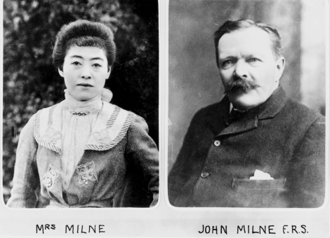 John Milne, British seismologist and geologist, and his wife, Tone c.1900