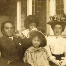 Samuel Coleridge-Taylor with his wife, Jessie, and their children Hiawatha and Gwendolyn (Avril)
